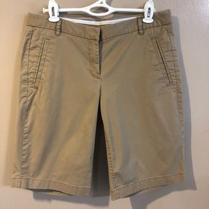 🔴J. Crew Stretch Khaki Bermuda Shorts - 4